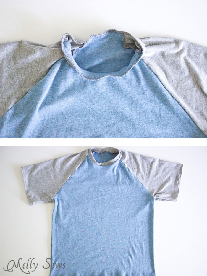 Step 3 - Mens Raglan T-shirt Pattern and Tutorial - Make a raglan tshirt with this free pattern - Melly Sews