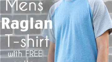 Mens Raglan T-shirt Pattern and Tutorial - Make a raglan tshirt with this free pattern - Melly Sews