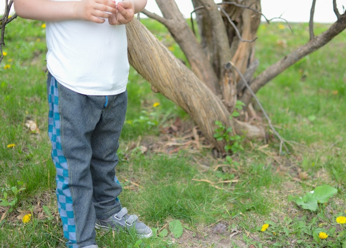 Super Skinny pants by Blank Slate Patterns with extra width sewn by If Only They Would Nap