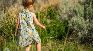 Fresh Bloom Frock by Blank Slate Patterns sewn by Sew a Straight Line - Girls dress sewing pattern