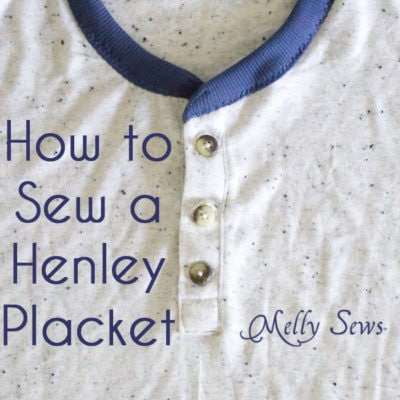 How to Sew Henley Placket