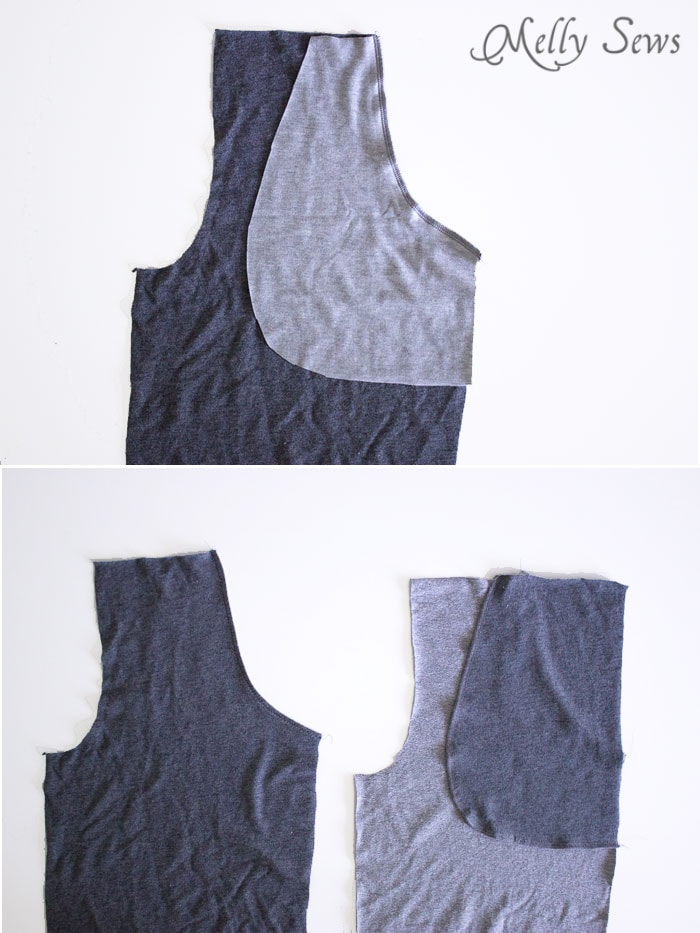 Step 1 - Sew Mens Shorts Tutorial - with drawstring and pockets - Melly Sews
