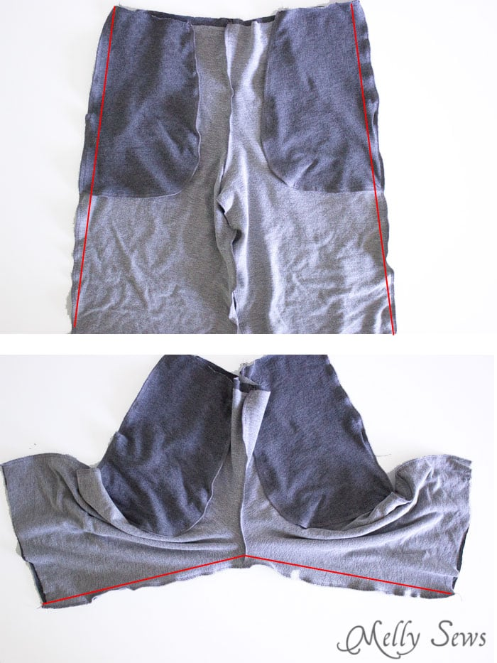 Step 3 - Sew Mens Shorts Tutorial - with drawstring and pockets - Melly Sews