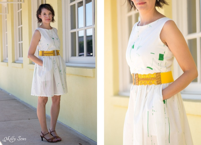 Love this! Make a boatneck sundress with this pattern hack - 30 Days of Sundresses - Melly Sews  - bateau neck dress - ballet neckline dress