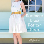 Make a boatneck sundress with this pattern hack - 30 Days of Sundresses - Melly Sews - bateau neck dress - ballet neckline dress