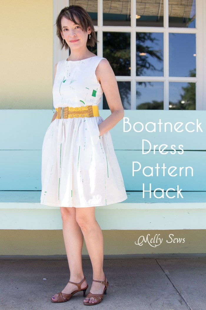 Make a boatneck sundress with this pattern hack - 30 Days of Sundresses - Melly Sews