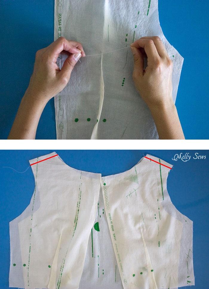 Step 2 - Make a boatneck sundress with this pattern hack - 30 Days of Sundresses - Melly Sews  - bateau neck dress - ballet neckline dress