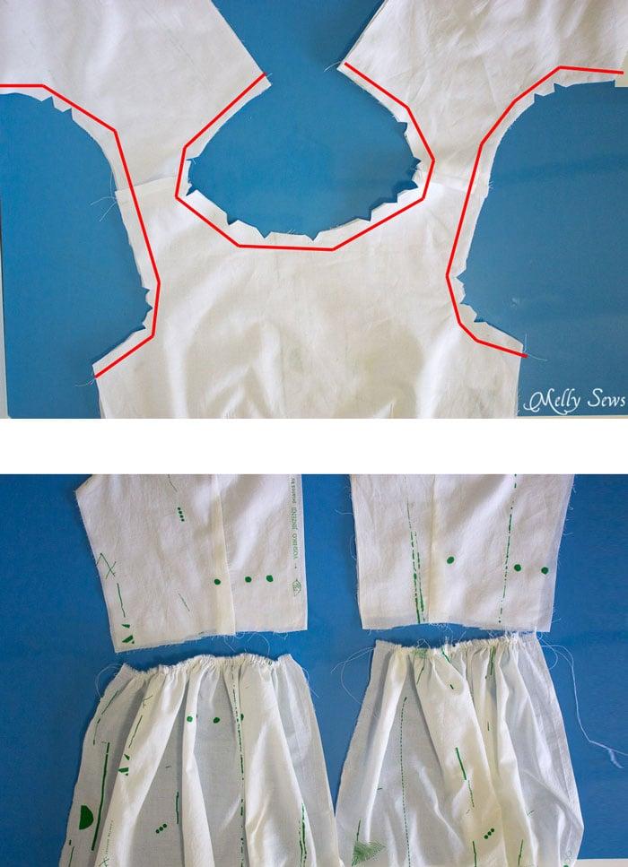 Step 3 - Make a boatneck sundress with this pattern hack - 30 Days of Sundresses - Melly Sews  - bateau neck dress - ballet neckline dress