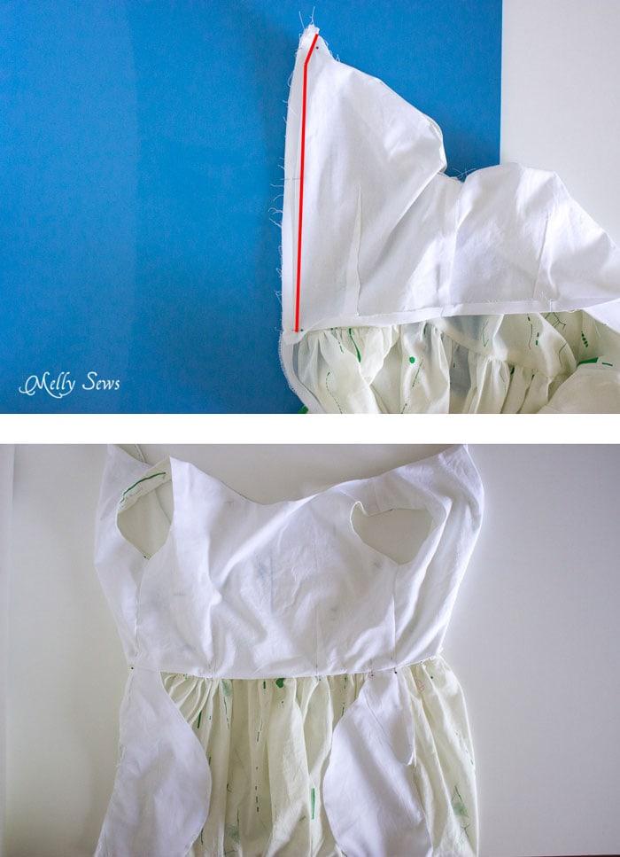 Step 5 - Make a boatneck sundress with this pattern hack - 30 Days of Sundresses - Melly Sews  - bateau neck dress - ballet neckline dress
