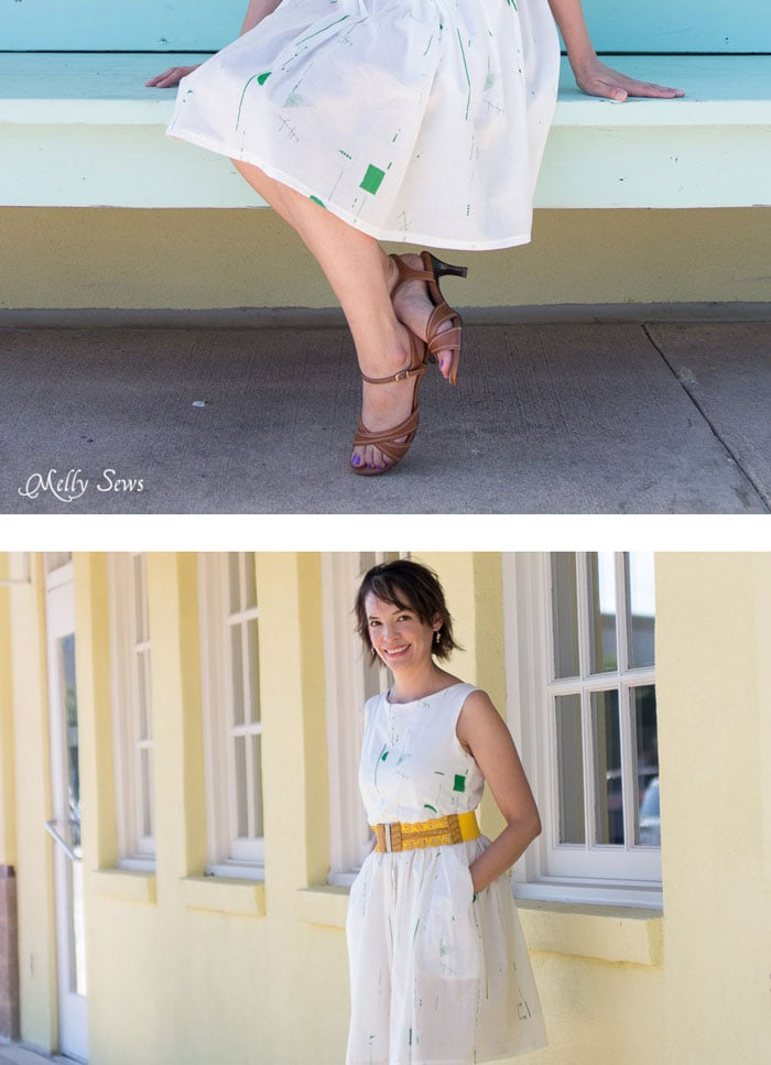 I want to make this! Make a boatneck sundress with this pattern hack - 30 Days of Sundresses - Melly Sews - bateau neck dress - ballet neckline dress