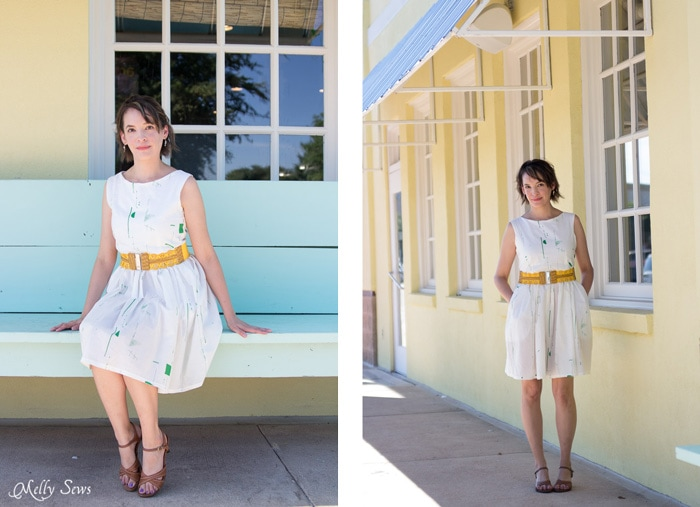 Perfect mix of casual and dressy - Make a boatneck sundress with this pattern hack - 30 Days of Sundresses - Melly Sews - bateau neck dress - ballet neckline dress