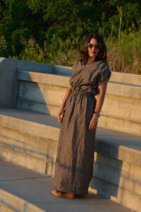 Easy Linen Dress by Aesthetic Nest for (30) Days of Sundresses - Melly Sews