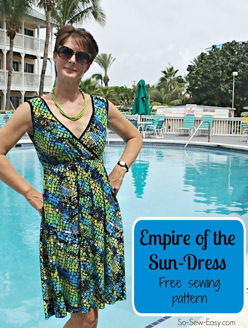 Empire of the Sun dress by So Sew Easy for (30) Days of Sundresses - Melly Sews
