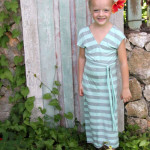 Girls striped maxi dress by kojodesigns - 30 Days of Sundresses - Melly Sews