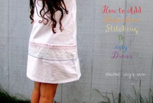 Decorative Stitches Sundress - 30 Days of Sundresses - Melly Sews