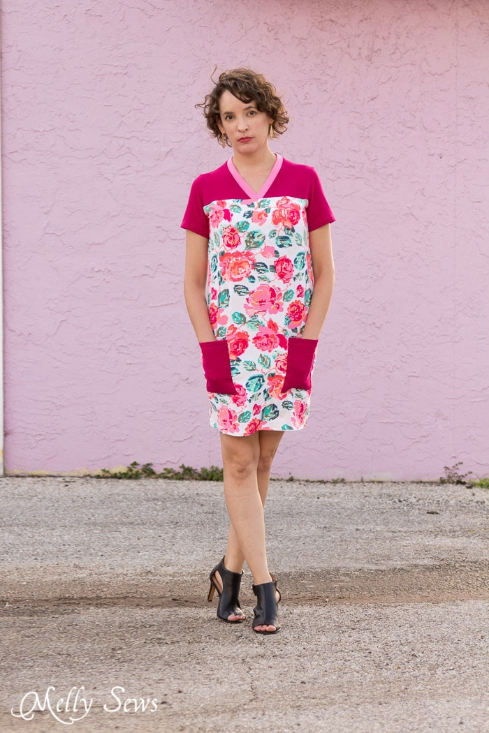 Love the pockets! Juniper Jersey turned Dress - Sewing pattern by Blank Slate Patterns - 30 Days of Sundresses - Melly Sews
