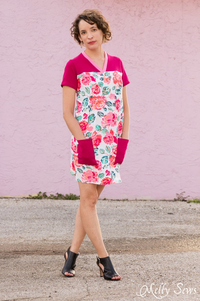Cute and comfy! Juniper Jersey turned Dress - Sewing pattern by Blank Slate Patterns - 30 Days of Sundresses - Melly Sews