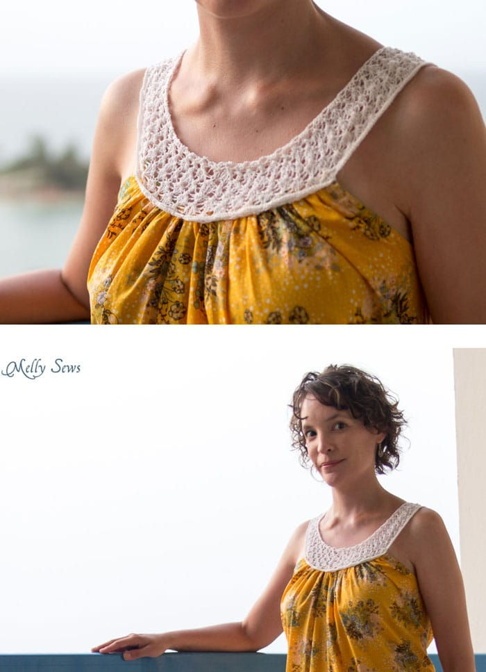 30 Days Of Sundresses Knit Yoke Dress With Free Pattern Melly Sews