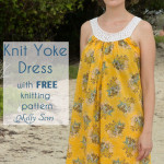 Love the voile! Knit Yoke Sundress with free knitting pattern - Sew a pillowcase dress and add a knit yoke - Melly Sews