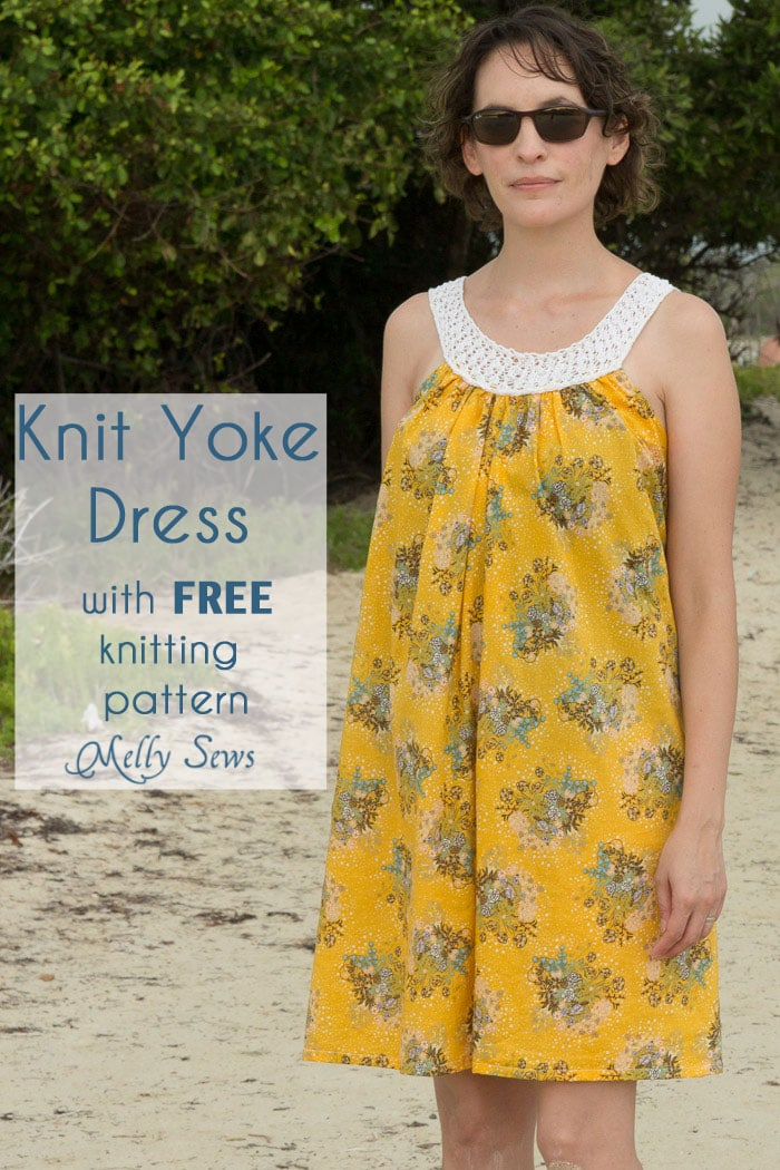 Free Knitting Pattern Ladies Dress : (30) Days of Sundresses Knit Yoke Dress with Free Pattern - Melly Sews