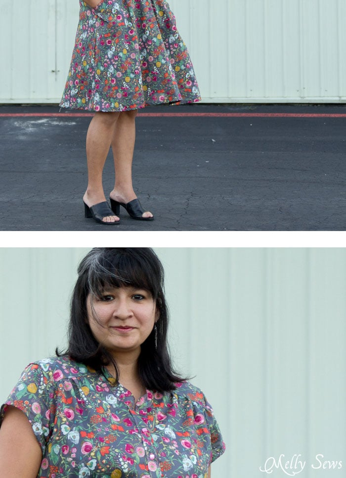 Close up Details of Marigold Dress by Blank Slate Patterns - 30 Days of Sundresses - Melly Sews