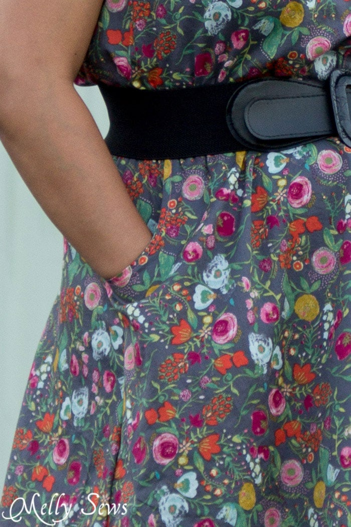 Pockets! Must have - Marigold Dress by Blank Slate Patterns - 30 Days of Sundresses - Melly Sews