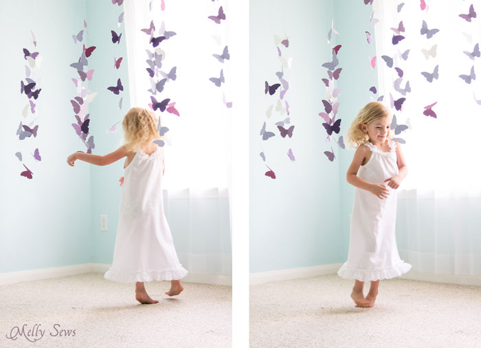 Must sew - Girls Summer Nightgown tutorial with Free Pattern - Sew a nightgown - 30 Days of Sundresses - Melly Sews