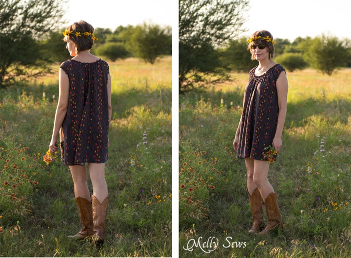 Wildflower Wandering - Sew a Peasant Dress - Boho Baby Doll Dress for Women - Free pattern and tutorial from Melly Sews