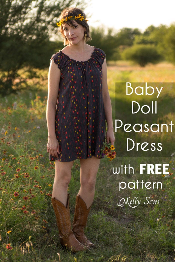 Baby Doll Dress Pattern - Peasant Dress Tutorial - Melly Sews
