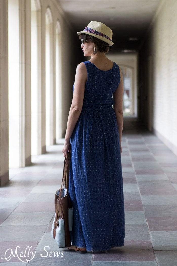 Maxi Dress - Summer Must Have - How to sew a Reversible Dress - 30 Days of Sundresses - Melly Sews