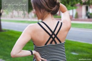Criss Cross strap sundress by Sewbon for (30) Days of Sundresses - Melly Sews