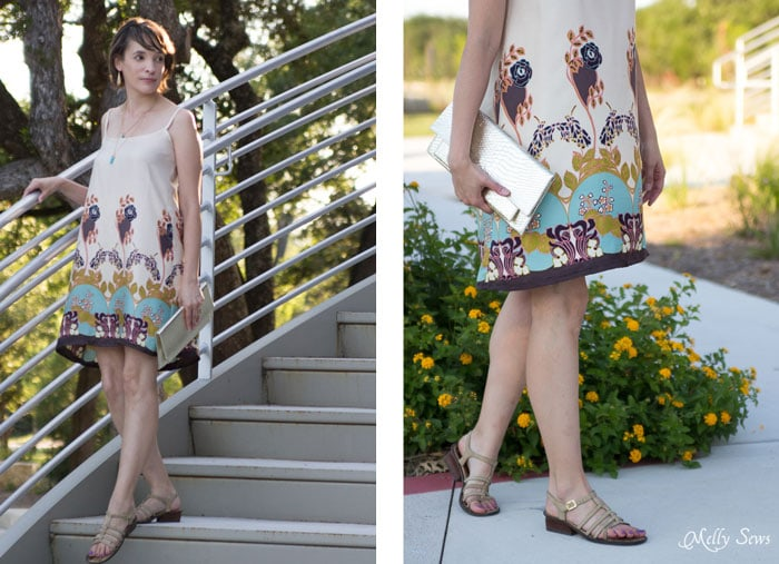 Gorgeous print - Summer Slip Dress Tutorial - Sewing Pattern by Melly Sews
