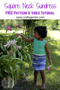 Square Neck Sundress by The Crafty Gemini for 30 Days of Sundresses - Melly Sews