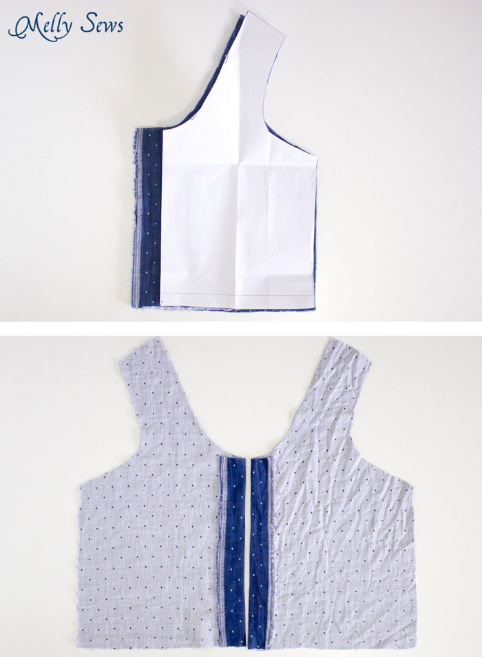 Add a button placket to a dress - How to sew a Reversible Dress - 30 Days of Sundresses - Melly Sews