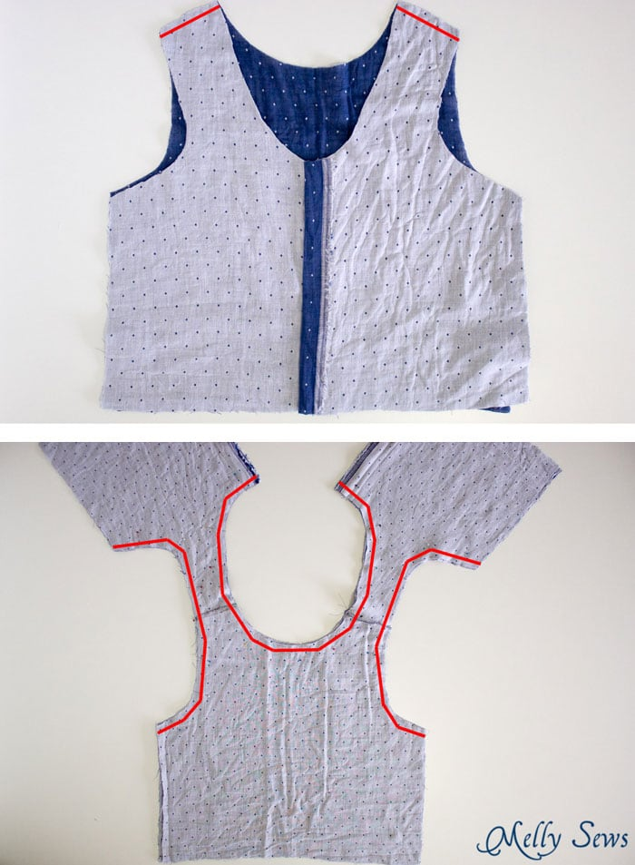 Step 2 - How to sew a Reversible Dress - 30 Days of Sundresses - Melly Sews