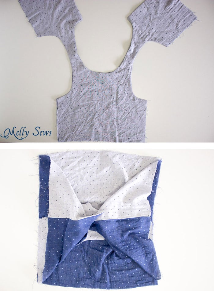 Step 3 - How to sew a Reversible Dress - 30 Days of Sundresses - Melly Sews