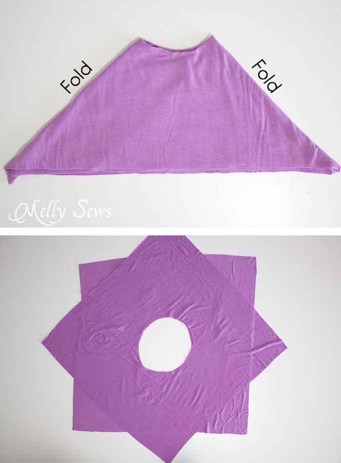 Step 2 - Handkerchief Hem Dress tutorial - Sew a knit girls dress with this free pattern - Melly Sews