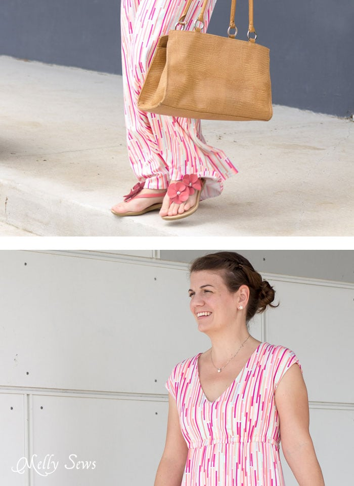 Details - Striped Maxi Dress with free pattern - sew a maxi dress for women - 30 Days of Sundresses - Melly Sews