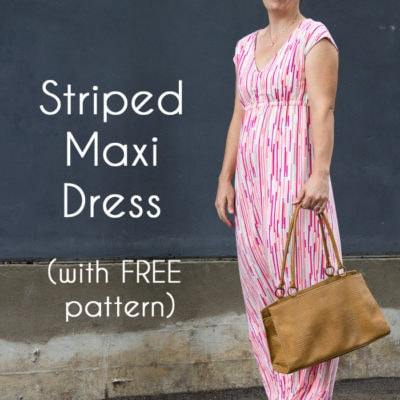 Empire Waist Maxi Dress Tutorial – with Free Pattern
