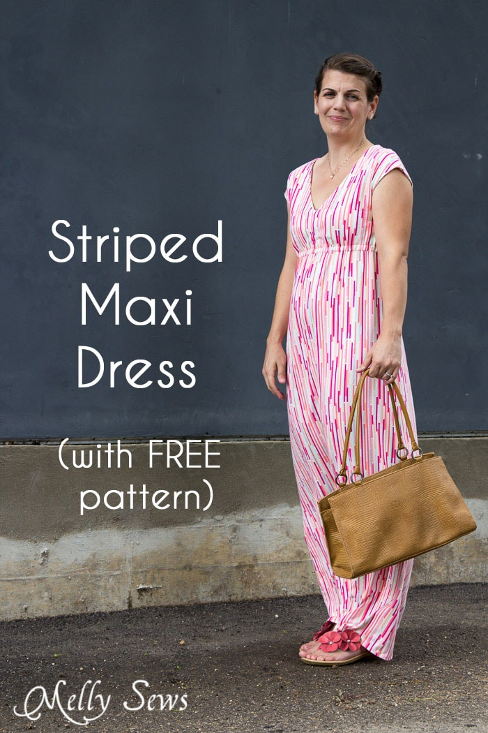 Empire Waist Maxi Dress Tutorial - with Free Pattern - Melly Sews