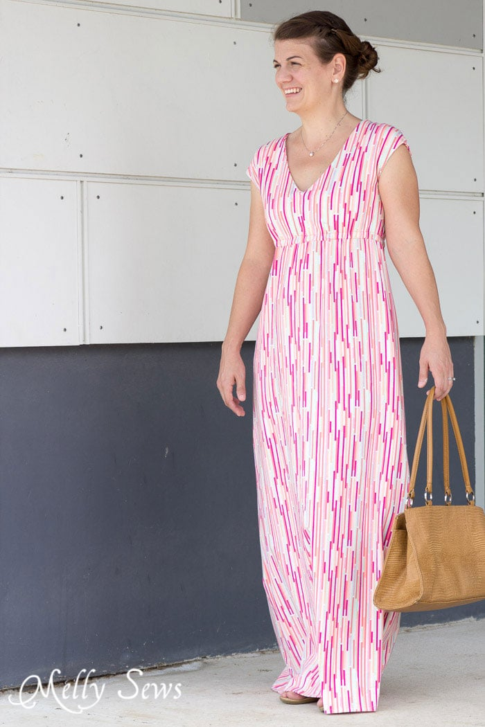 Empire Waist Maxi Dress Tutorial - with Free Pattern