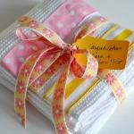 aesthetic ribbon towels