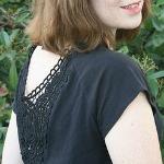 dixie black dress plus crochet