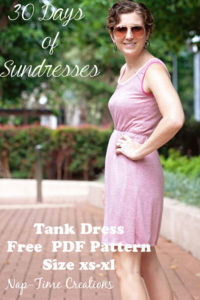 Women's Tank Dress by Naptime Creations - 30 Days of Sundresses - Melly Sews