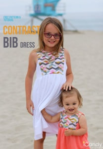 Contrast Bib Sundress by iCandy Handmade for (30) Days of Sundresses - Melly Sews