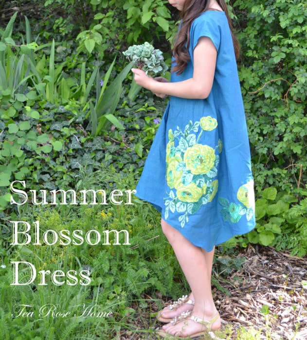 Summer Blossom Dress by Tea Rose Home for 30 Days of Sundresses - Melly Sews