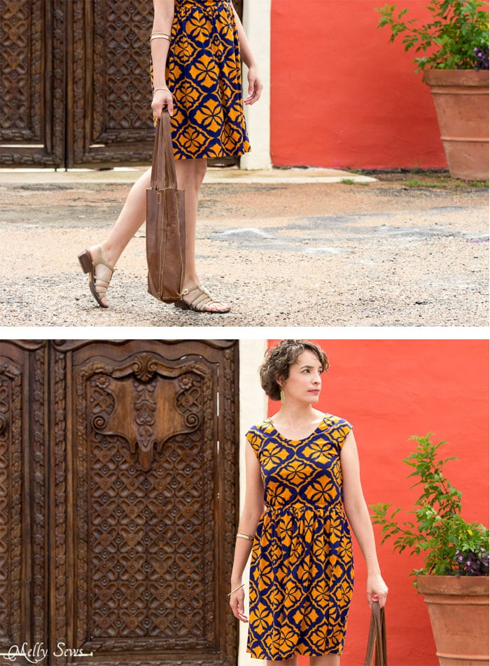 Great print - Tie Back Dress Tutorial - Melly Sews 30 Days of Sundresses - Sew a Sundress with a Free Pattern