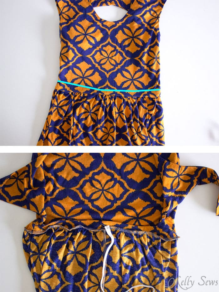 Step 6 - Tie Back Dress Tutorial - Melly Sews 30 Days of Sundresses - Sew a Sundress with a Free Pattern