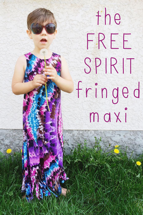 Fringed Maxi Dress Tutorial by On the Laundry Line for 30 Days of Sundresses - Melly Sews