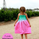 Watermelon sundress by Sew Country Chick - 30 Days of Sundresses - Melly Sews